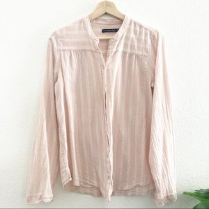 Abercrombie and Fitch L/S Pink Striped Shirt
